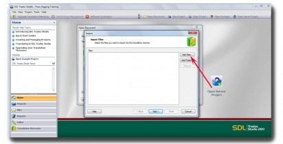 SDL Studio 2011_How to import TMX